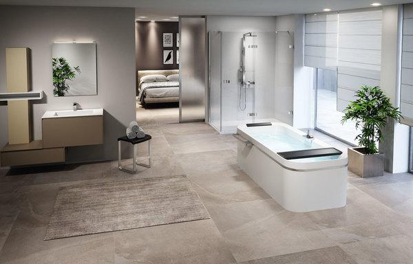 baddesign beige holz planen. Black Bedroom Furniture Sets. Home Design Ideas